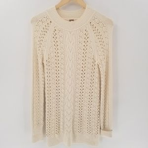 Free People Open Knit Tunic Sweater